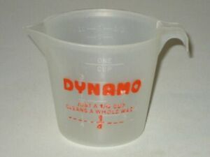 Rare 1970s DYNAMO Laundry Detergent Measuring Cup! Colgate-Palmolive Advertising