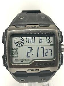 Timex Indiglo Expedition M076 Shock Gents Digital Watch Black Slicon Strap