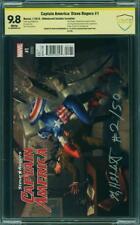 Captain America Steve Rogers #1 CBCS (not CGC) NM/MT 9.8 SS Hildebrandt RI #2/50