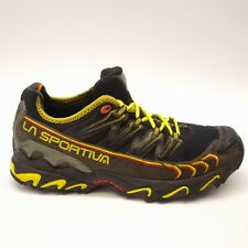 La Sportiva Mens Black Yellow Ultra Raptor Athletic Running Trail Shoes Sz 10.5