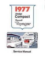 1976 Dodge Van Plymouth Voyager Shop Service Repair Manual Engine Drivetrain OEM