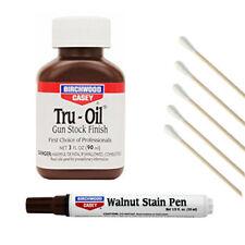 Birchwood Casey Tru-Oil Gun Stock Finish w/ Walnut Stain Pen & Free Cotton Swabs