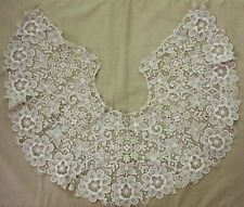 Antique HANDMADE  cotton Large Bobbin lace collar