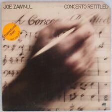 JOE ZAWINUL: Concerto Retitled '76 Jazz Fusion Promo Sticker ATLANTIC Vinyl LP