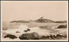 YORK BEACH ME MAINE Nubble Island Light House Vintage RPPC Postcard Old Photo