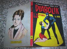 DIABOLIK ANNO V ORIGINALE N.14 DEL 1966 OTTIMO TIPO NERI KRIMINAL SATANIK