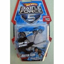 HOT WHEELS BATTLE FORCE 5 BUSTER TANK W/ SNAP ON WEAPONS *NEW*