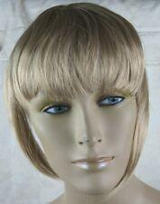 medium blonde clip in on fake fringe bangs hair extension hair piece fancy dress