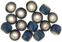 RARE OLD round 4 layers green striped CHEVRON VENETIAN GLASS BEADS African trade