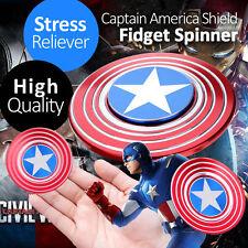 EDC Captain America Shield Aluminium Hand Focus Fidget Spinner Stress Reliever