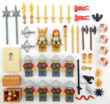 10 NEW LEGO CASTLE KNIGHT MINIFIG LOT LION figures minifigures chain mail armor