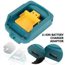 Dual USB Port Phone Charger Battery Adapter For Makita 18V 14.4V BL1830 BL1430