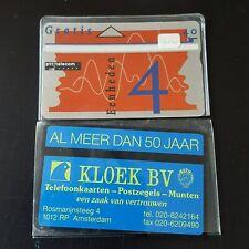 tel 21 - PTT Telecom - 4 unit - Telefoonkaart//Carte Telephone - Kloek BV
