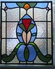 Traditional Victorian design stained glass decorative panel.