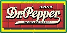 DR PEPPER SODA OLD VINTAGE SIGN REMAKE PRINTED BANNER ART GARAGE SHOP 2' X 4'