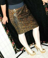 The Limited, Sexy, Shiny Gold Metallic On Black Skirt, High Waist, Size 6