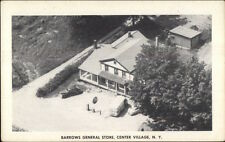 Center Village Ny Aerial View of Barrows General Store Postcard