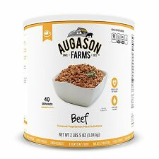 Augason Farms Beef Flavored Vegetarian Meat Substitute 37 oz #10 Can
