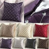 Sofa Home Bed Decor Multicolored Plaids Throw Pillow Case Square Cushion Cover~