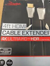 Rocketfish 4ft HDMI Cable Extender 4K Uktra HD & HDR Compatible 18 Gbps