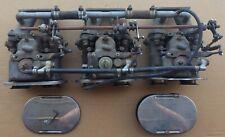 AUSTIN HEALEY 3000 100-6  3-WEBER 40 DCOE CARBS VEL. STACKS MANIFOLDS & LINKAGE