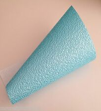 BLUE  A4 Paper Embossed Pebble Pearlised Paper x 5 for Wedding Invitation Card