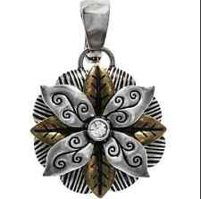 Mix & Match Fancy Flower Pendant / Charm  Big Sky Carvers Silver