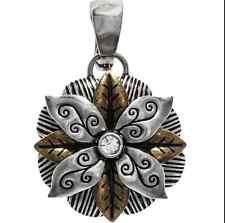 Mix & Match Fancy Flower Pendant / Charm  Big Sky Carvers Silver