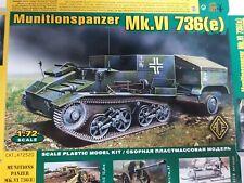 !Besonderheit! Modellbausatz von ACE ,, Munitionspanzer Mk. VI 736 (e),, 1:72