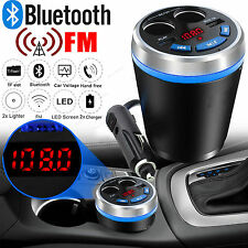 Blue Bluetooth Car Kit Handsfree FM Transmitte MP3 Player USB Charger For Mazda