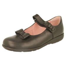 Chaussures étroites avec attache auto-agrippant en cuir pour fille de 2 à 16 ans