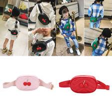 Kids Girls PU Leather Waist Fanny Packs Belt Pouch Hip Purse Travel Satchel Bags