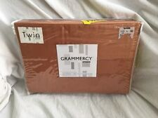 TWIN SIZE SHEET SET SOLID COPPER 350 TC NEW GRAMMERCY STUDIO 100% COTTON