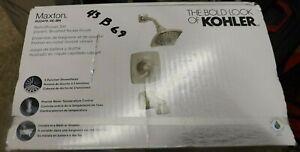 KOHLER Maxton R22478-4E-BN Brushed Nickel 1-Handle Bathtub/Shower Faucet + Valve