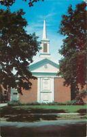 Hamburg New York~Presbyterian Church~Main Street~1950s Postcard
