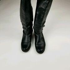 Unisa Black Knee High Slip On Round Toe Boots Women's Size 6M