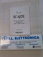 MANUALE IN ITALIANO istruzioni d'uso per ICOM IC-Q7E