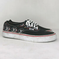 Vans Womens Off The Wall Black White Canvas Skate Shoes Lace Up Low Top Size 8