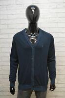Cardigan Timberland Uomo Taglia XL Pullover Felpa Sweater Maglione Cotone Blu