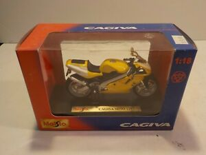 N Maisto Cagiva Mito Yellow 1:18 3.75 GI joe Motorcycle Die Cast MISB