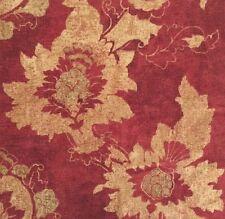 OSBORNE & LITTLE Sansovino Serenissima Rust Gold Cotton Floral Remnant New