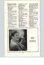 1945 Movie Stars Ad Bob Burns Rhythm Range Belle Yukon Musical Comedian
