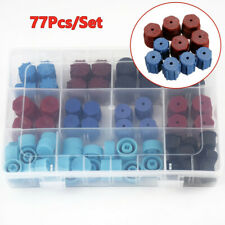 77Pcs/Set A/C R134A R12 High Low Side Valve Core/Service Port Dust Cap H2P5 Trim
