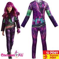Girls Descendants 3 Audrey Mal Costume Jumpsuit Halloween Kids Book Week Cosplay