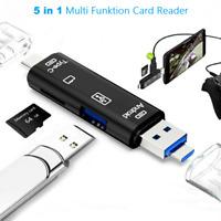 ✅5 in 1 USB 3.0 Typ-C Leser TF SD Kartenleser OTG Adapter Micro Speicherkarten✅