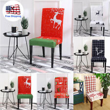 Bverionant Christmas Chair Covers Set of 4 Christmas Seat Slipcover for Hotel,Dining Room Chair Protector Slipcovers Christmas Decoration #1