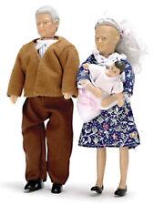 Casa Delle Bambole Miniatura Bambola Famiglia Nonni 1:12 Scala