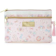 Sanrio Original My Melody Leather Flat Multi Pouch Bag Wallet Makeup Pouch Japan