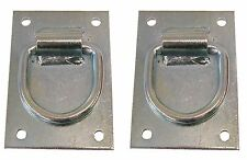 Heavy Duty Cross Tie Ring Plate - Steel Plate  for Stables and Barns Set of 2