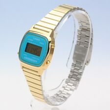 LA670WGA-2D Blue Gold Casio Watch Casual Classic Women's Stainless Steel Band
